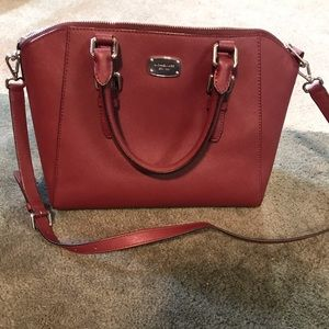 Michael Kors genuine burgundy purse